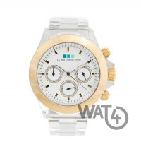 Carpe Diem Gold Bezel-White Dial